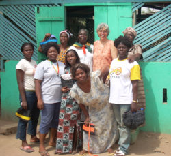 Jackie Abrams with KamiAmi Women in Ghana