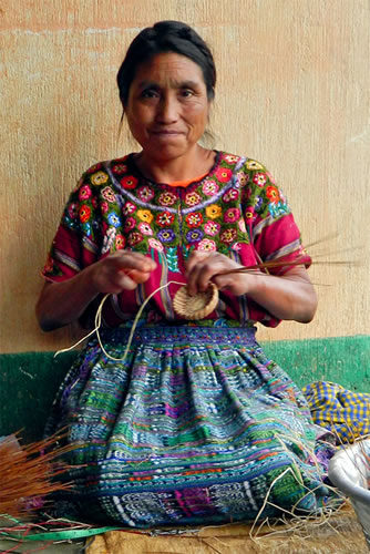 Catarina is a Mayan Hands Basket Weaver in Guatemala.