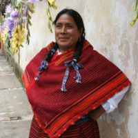 Regina Mazahua lives and weaves in Central Mexico.