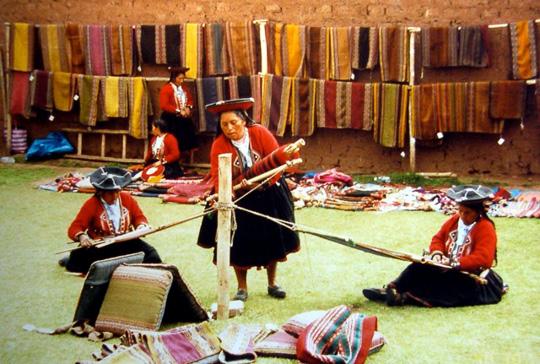 Center for Traditional Textiles, Cusco, Peru.  Backstrap Weaving